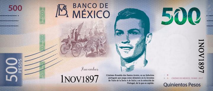 Billete 500 Cristiano Ronaldo (1)